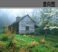 林中景观木屋