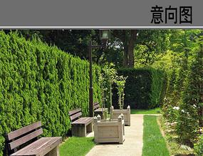 绿篱休息间