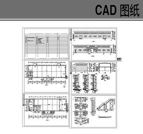 某食堂钢结构建筑图