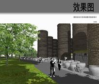 南风古灶片区古代建筑物效果图 JPG