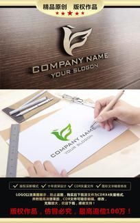 鸟LOGO设计标志设计