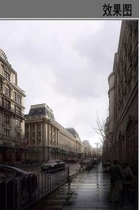 欧式商业街建筑效果图 JPG