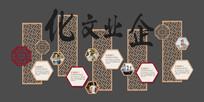 企业文化历程形象墙展板 PSD