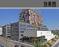 三层幼儿园建筑设计透视效果