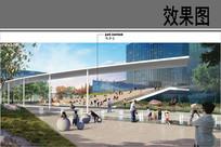 商业办公区公园活动广场效果图