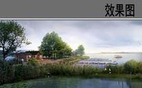 湿地公园水景 PSD