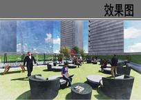 世贸金融中心北屋顶花园效果图 JPG