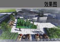 世贸金融中心东屋顶花园效果图