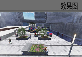 世贸金融中心商业北广场效果图