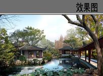 苏州园林水景 PSD