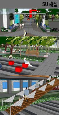 小区景观小品模型