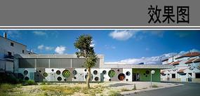 幼儿园建筑设计局部透视效果 JPG