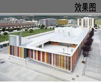 幼儿园建筑设计鸟瞰效果