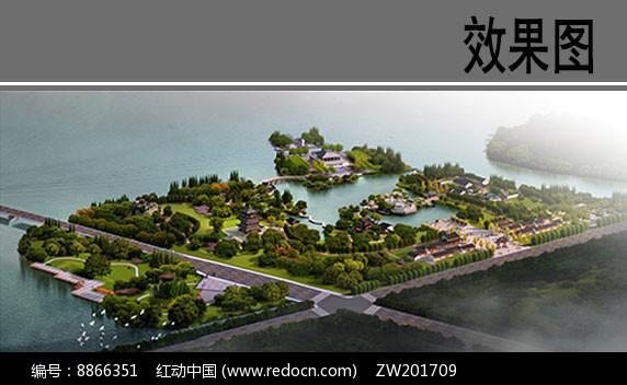 园林滨水景观效果图图片