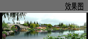 园林景观水景效果图