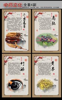 中国风中药文化挂图