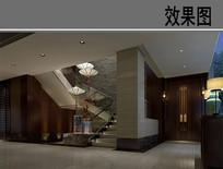 中式装修风格餐厅 JPG