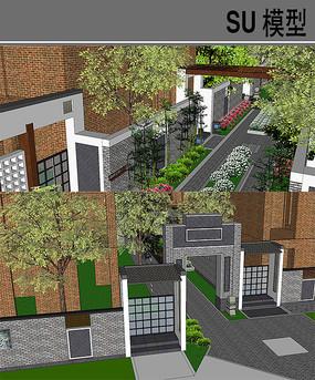 住宅区绿地景观模型
