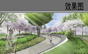 自贸区商业综合体花园小径