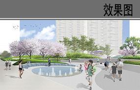 自贸区商业综合体入口水广场 JPG
