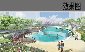 自贸区商业综合体泳池公园