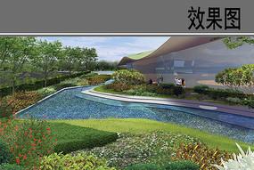 自贸区商业综合体展示花园