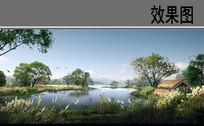 自然生态水景 PSD