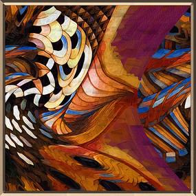 抽象图案油画