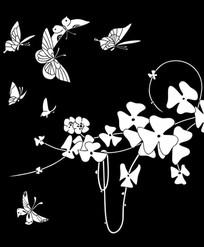 蝴蝶缤纷雕刻图案