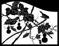 葫芦鸟雕刻图案