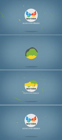 简洁logo标志演绎模板