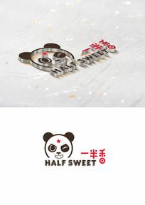 卡通原创熊猫手绘LOGO设计
