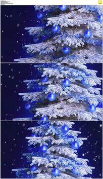 蓝色雪花圣诞树背景视频素材