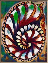 螺旋抽象油画 PSD