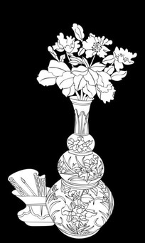 青花瓷雕刻图案