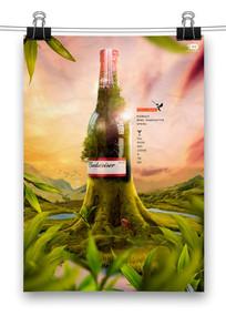 森林啤酒创意海报