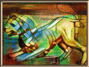 狮子座油画