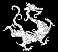 兽龙雕刻图案