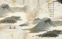 新中式大理石纹山水背景墙