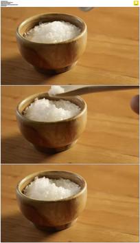 一勺盐实拍视频素材