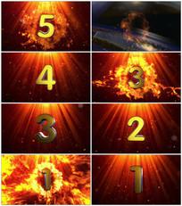 震撼大气5秒火焰倒计时视频