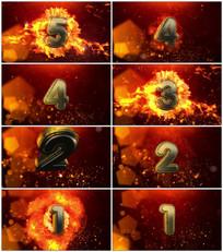 震撼大气火焰5秒倒计时视频