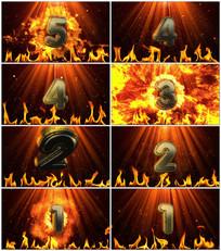 震撼火焰金属5秒倒计时视频