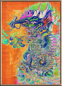 中国龙装饰画