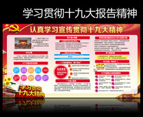 村委学习贯彻十九大精神宣传栏