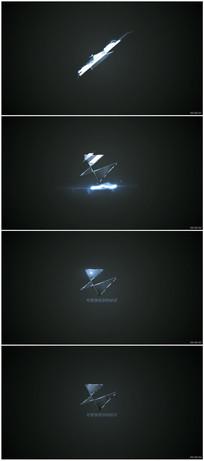 闪电能量冲击Logo展示