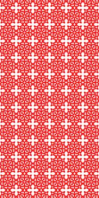 传智红花纹理图案