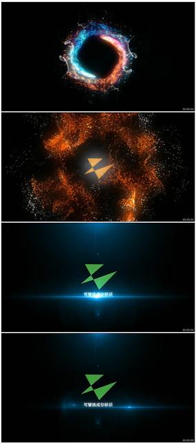 粒子光束碰撞爆炸出标志模板
