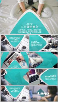 AECC三角圆形商务宣传展示视频