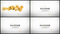 MG圆形粒子定板动画视频
